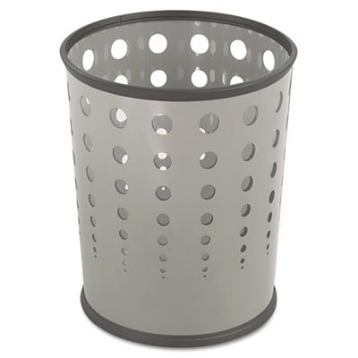 - Safco Products 9740GR Bubble Wastebasket, 6-Gallon, Gray