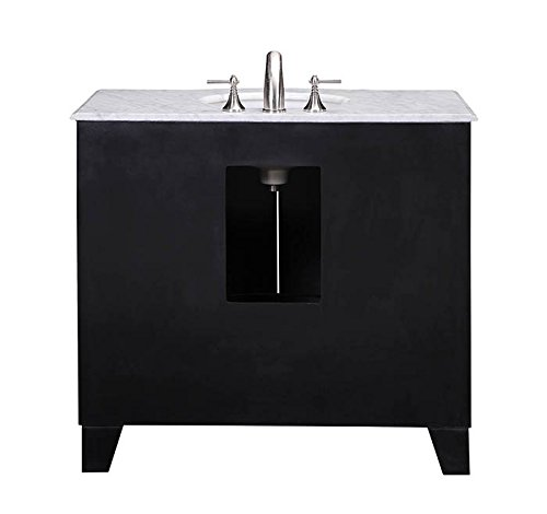 Stufurhome GM-2206-40ES-CR 40-Inch Grand Cheswick Espresso Single Sink Vanity with Carrara Marble Top