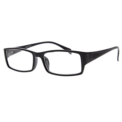 grinderPUNCH Plastic Rim Clear Lens Plano Glasses for Men and Women -