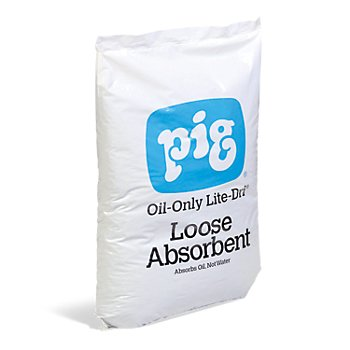 Pig Oil-Only Lite-Dri Loose Absorbent, Oil-Only 22lb (6 Bags)