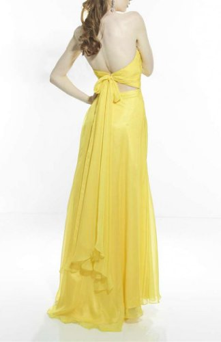 Bodenlang Aermellos Etui Chiffon Damen Linie Herz Dearta Kleidungen Gelb Abendkleider Ausschnitt qY0Sxa7n