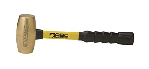 ABC Hammers ABC5BFB Brass Hammer with 12'' Fiberglass Handle, 5-Pound by ABC Hammers (Image #1)