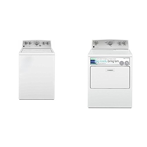 Kenmore Top-Load Laundry 7.0 cu. ft. Electric Dryer Bundle with SmartDry Plus Technology-White
