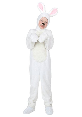 Cheap Rabbit Costumes (Rabbit Costume Children, Girl Boy Kids Halloween Animal Cosplay Outfit White XS-XL (XS))