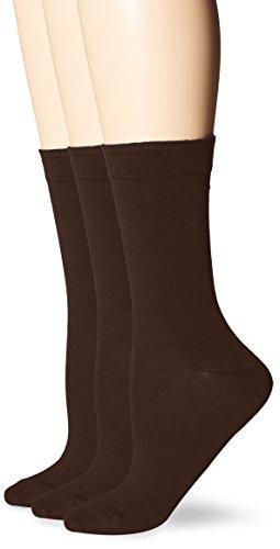 Brown Womens Socks (HUE Women's Solid Femme Top Sock,Espresso,One Size)