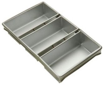 Focus Commerical Bakeware 3 Strapped Bread Pans - 8.5 X 4.5 Inch - 904235