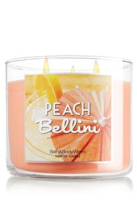 Bath Body Works Peach Bellini 14 5 Oz 3 Wick Scented Candle