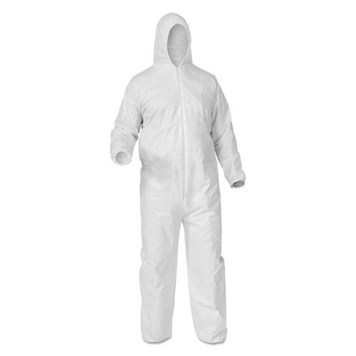 - Kimberly Clark 38938 Kleenguard A35 Liquid & Particle Protection Coveralls, 2475179, Large, White