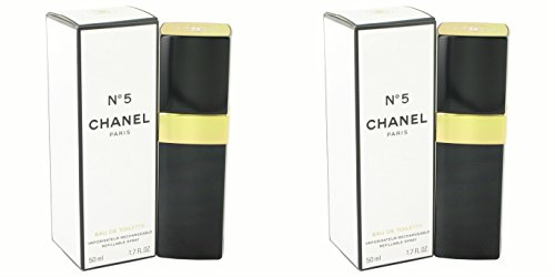 Chànel Nô. 5 Pérfume For Women 1.7 oz Eau De Toilette Spray Refillable + a FREE 6.7 oz Hand & Body Cream (PACKAGE OF 2)