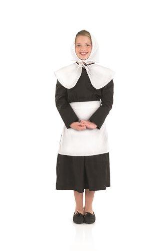17th Century Children's Costume (Puritan Girl 17th Century Childs Fancy Dress Costume - L 54inch Height)