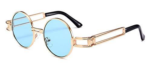 7e32afa58e3d Image Unavailable. Image not available for. Colour: Shopystore C6 Blue Hbk  Gothic Steampunk Sunglasses Men Women Metal Wrap Eyeglasses Round