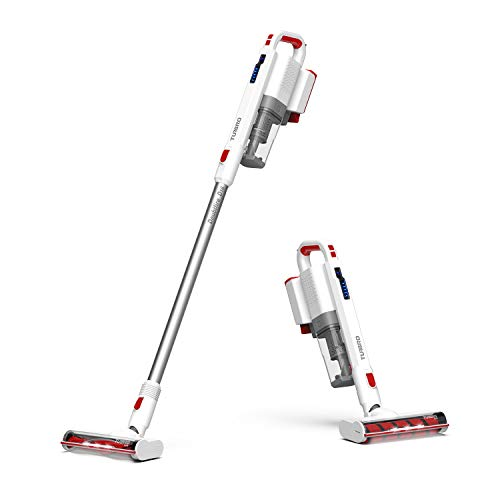 TURBRO Doubtfire D16 Cordless Vacuum Cleaner Rechargeable Lightweight w/ 16Kpa Powerful Suction, 2-in-1 Stick and Handheld Design, for Hardwood Floors and Carpet, White