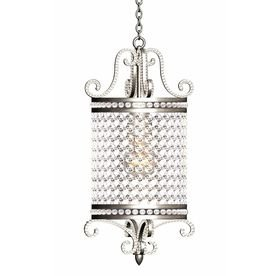 Pendant Satin Nickel Finish with Crystal Accents