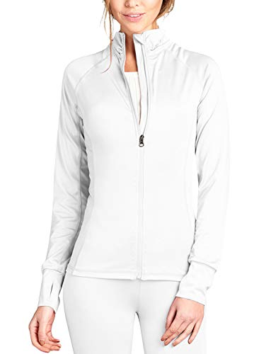 J. LOVNY Women Comfy Solid Long Sleeve Full Zip-up Track (Best J.tomson White Blouses)