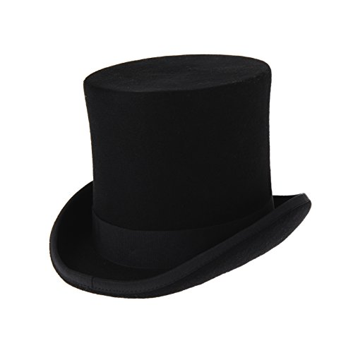 100% Wool Felt Top Hats Victorian Style Made Hatter 7