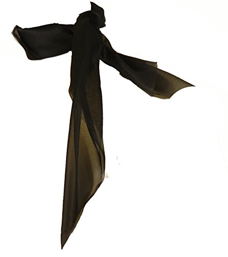 DC1616 (Black) Chiffon Scarf -