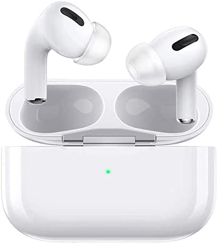 Wireless Earbuds Bluetooth 5.0 Headphones with [24 hrs Playing time] Pop-ups Auto Pairing,Smart Touch IPX5 Waterproof Built-in Mic Earbuds for iPhone/Android/Apple Airpods Pro Earbuds (White)