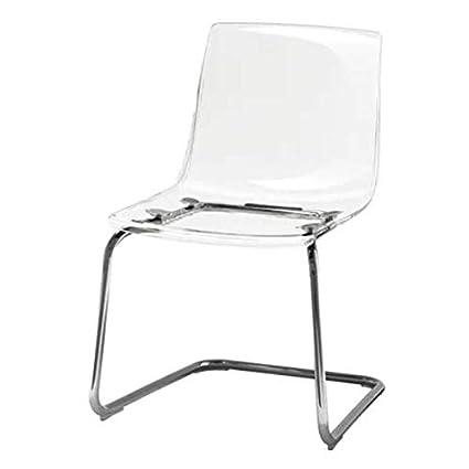 Ikea Tobias silla transparente; Cromado: Amazon.es: Hogar