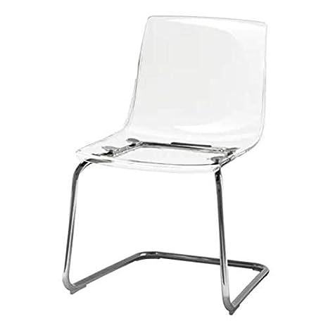 Ikea Tobias silla transparente; Cromado