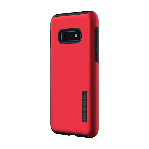 (Incipio DualPro Dual-Layer Case for Samsung Galaxy S10e with Hybrid Shock-Absorbing Drop-Protection - Iridescent Red/Black)