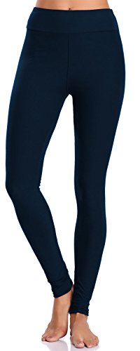 BAILYDEL Women's Ultra Soft Ankle Leggings High Waist Seamless Stretch Pants Color Navy Size XL-2XL