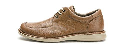 hombres FRAU 13N3 FX zapatos negros de cordones de confort nogal