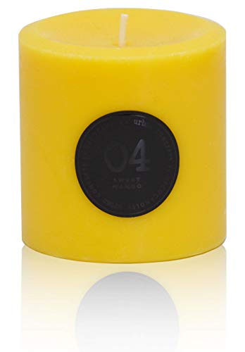 DecoCandleS Urban Concepts Bliss- Sweet Mango - Highly Scented - Long Lasting - Hand Poured in USA - Signature Scent for The Spa at The Conrad Miami, FL - 3x3 Pillar (NO Box) ()