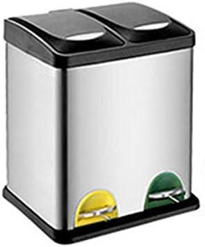 LJHA lajitong 分類された環境ゴミ箱はステンレスペダル (サイズ さいず : 41 * 34 * 48.5cm)