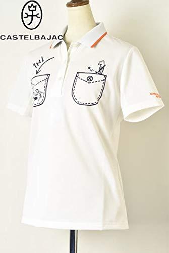 [カステルバジャックスポーツ] ゴルフ 半袖ポロシャツ トップス レディース LL(44) ホワイト(01) B07Q57C5ZN