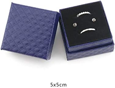 Hacoly Cufflink Tie Clip Gift Box con diseño de Rejilla y joyero ...