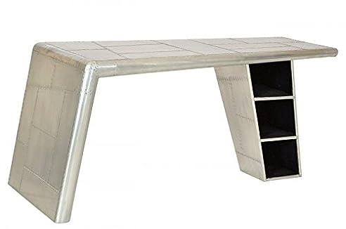 casa padrino luxus designer schreibtisch flieger desk aluminium flugzeug flgel art deco vintage mod2 - Schreibtisch Aus Flugzeugflgel
