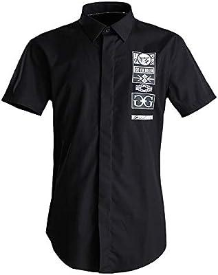 Camisa de los hombres Camisa casual para hombre de verano, camisas de manga corta, camisa de vestir con botones de trabajo, para niños adolescentes, camisa de algodón sólido, camisas de fiesta formal: