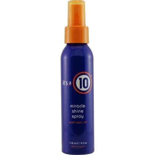 ITS A 10 by It's a 10 MIRACLE SHINE SPRAY WITH NONI OIL 4 OZ (Package Of 2) (Its A Miracle Dry Oil Spray)