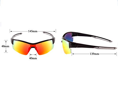 para Hombre C Lentes Polarizadas Deportivas Intercambiables Gafas Mujer De 3 Deportivas UV con A 400 Aili Protección Set 6STOx