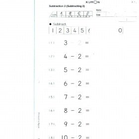 Kumon Maths Workbook Complete level 5A.Print copy. Kumon Centre Worksheets!: Amazon.co.uk: Office Products