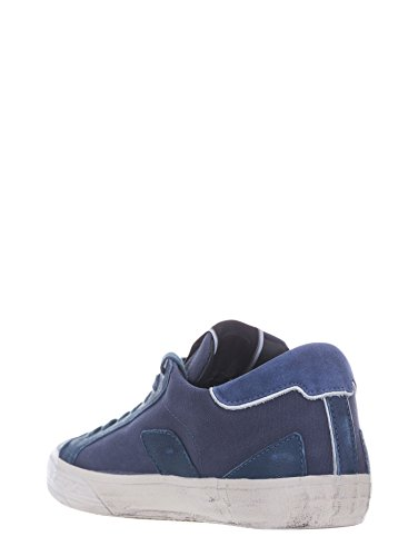 Model Pelle Stile BERCY 41 Philippe Chic Sneakers Blu in Urban vqOIxw