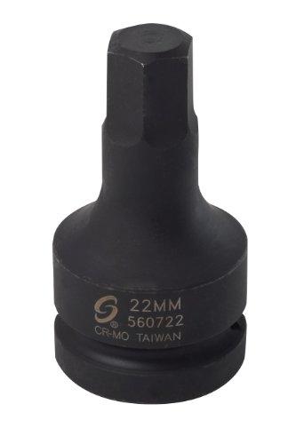 Sunex 560722 1-Inch Drive 22mm Hex Driver Socket ()