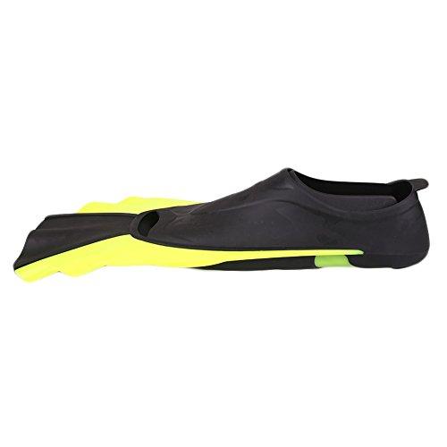 Beautyrain Schnorcheln Flossen Schwimmen Fuß Taucherflossen Flipper Ausrüstungs Trainings Leichtgewichtler Portable Gelb & S