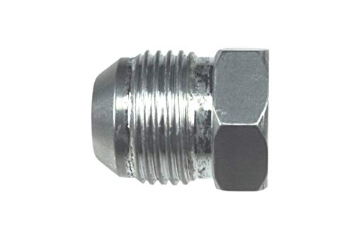 ICT Billet -6AN Flare Plug Male Nut 6 AN Cap Fitting Aluminum Thread Connector for Automotive Fluids Designed & Manufactured in the USA Bare Aluminum AN806-06A