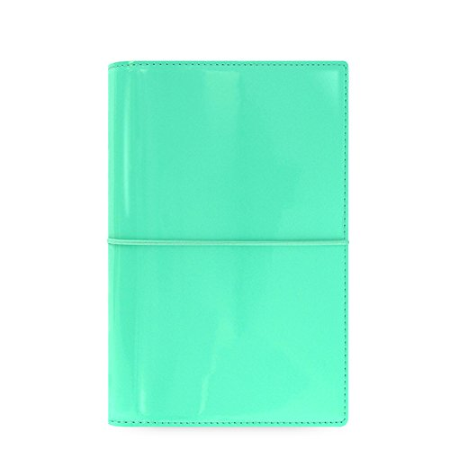 Filofax Domino Patent Personal Organiser - Turquoise