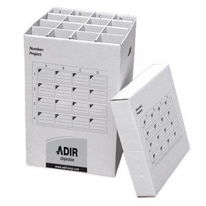 Adir Corrugated Cardboard 16 Roll File (for Rolls up to 25 Inches Long) Upright Storage -