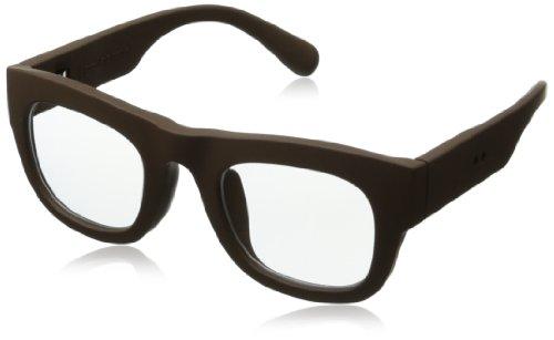 grafik:plastic Arron Wayfarer Eyeglasses,Choco & Clear,51 mm by grafik:plastic
