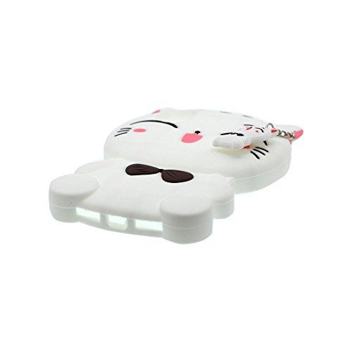 iPhone X Copertura,iPhone X Custodia,gatto cat bella 3D del fumetto Gomma morbida di silicone Supporto per copertina Case Cover per iPhone X