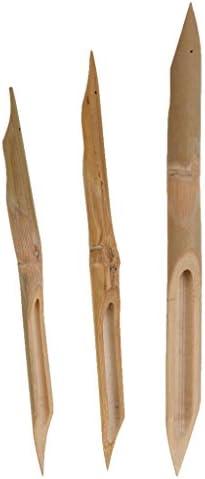 ノーブランド品 3枚セット 竹製 モデリング 陶器 粘土 彫刻 ホビー ツール モデリングツール