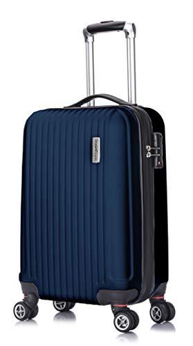 "Cheap TravelCross Berkeley Classic 21"" Carry On Lightweight Hardshell Spinner Luggage – Dark Blue"