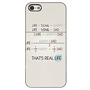 Mini - The Formula of Life Pattern PC Hard Case with 3 Packed HD Screen Protectors for iPhone 5/5S