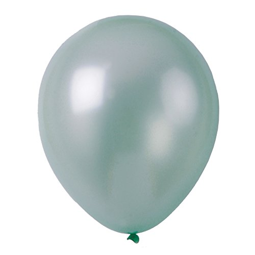 Topenca Party Supplies, 12 Inches Solid Metallic Latex Balloons, 50 Pack, Light Green