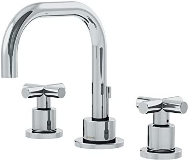 Symmons SLW-3512-H3-1.0 Dia Widespread 2-Handle Bathroom Faucet with Drain Assembly in Polished Chrome 1.0 GPM