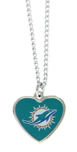 Nfl Logo Pendant (NFL Miami Dolphins Color Logo Heart Pendant)