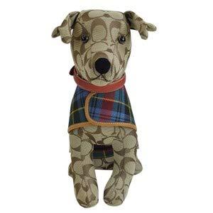 Coach Stuffed Toy Dog Signature C Pattern Collar & Coat Khaki